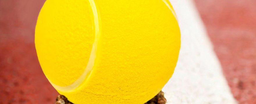 Création original balle de tennis en chocolat